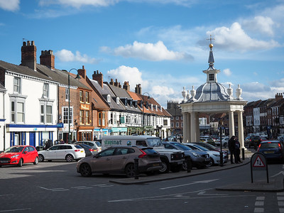 Market square in Beverley, England