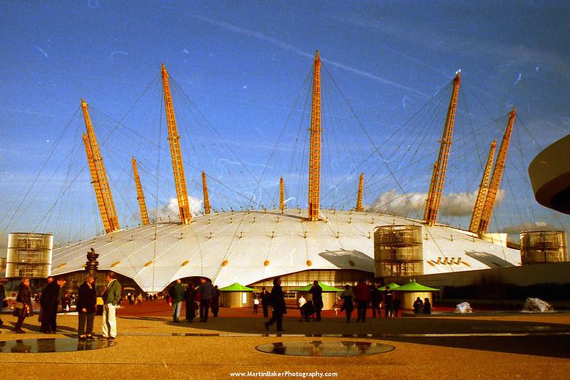 The Millennium Dome, Greenwich, London, England.