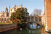 The Bridge of Sighs and River Cam, St. John's College, Cambridge, Cambridgeshire, England.