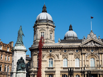 Queen Victoria Square in Hull, England