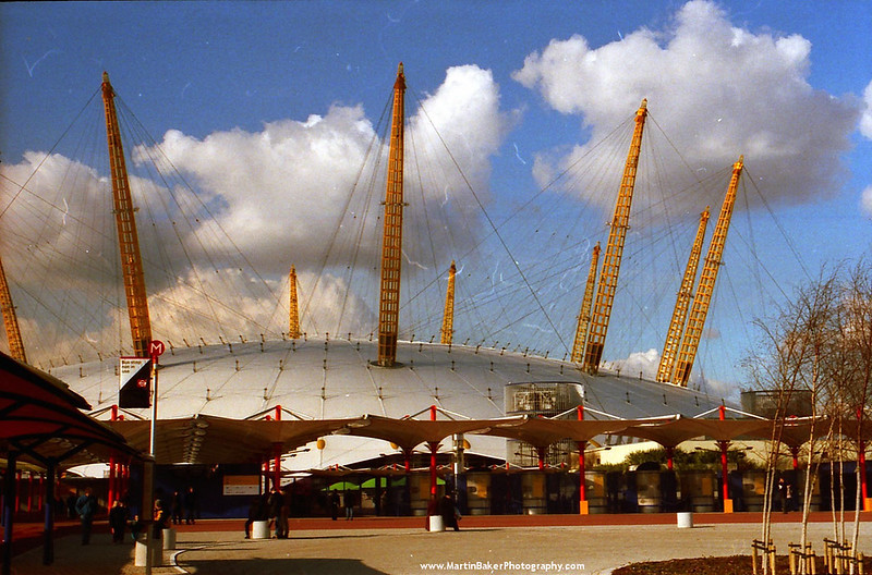 The Millennium Dome, Greenwich, London, England.
