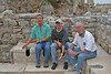 Brock, tour guide Mesut (Martin), and Dick enjoying a sit~Latriana~gathering place
