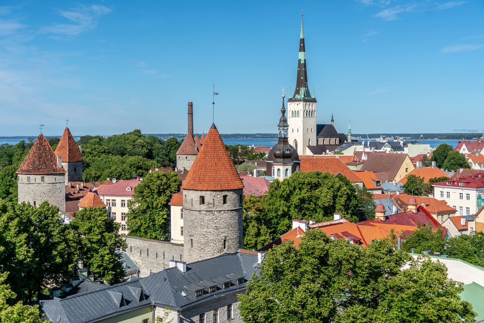 Historic Center (Old Town) of Tallinn, Estonia