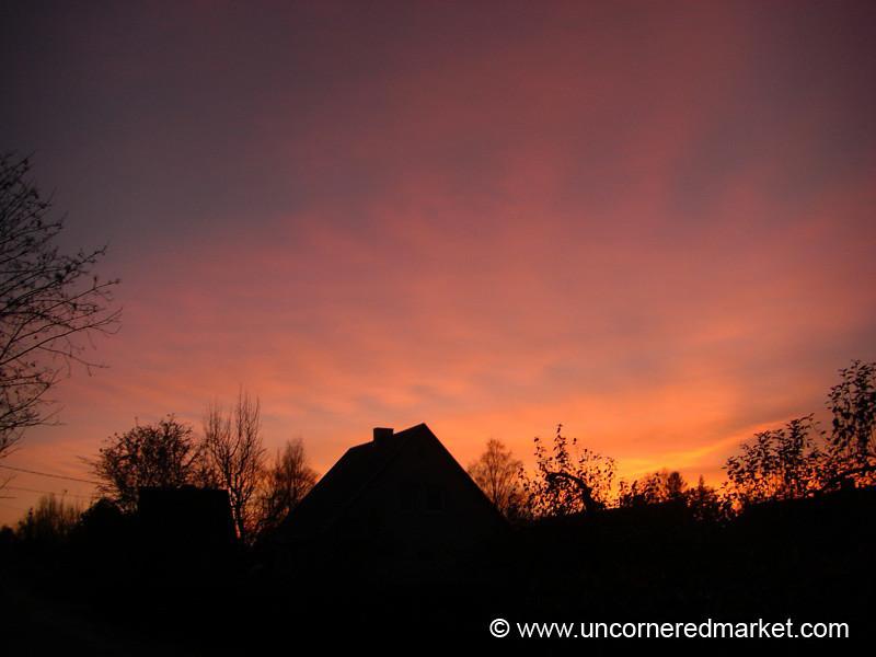 Estonian Autumn Sunset - Marjamaa, Estonia