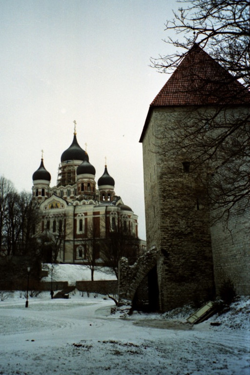 Russian Orthodox Church in Winter - Tallinn, Estonia