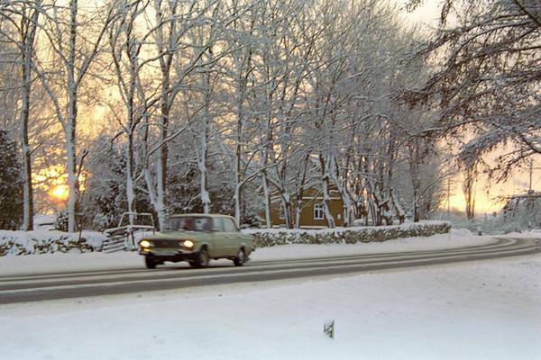Lada in Winter - Marjamaa, Estonia