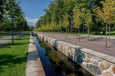 Scenic Canal in Kadriorg Park