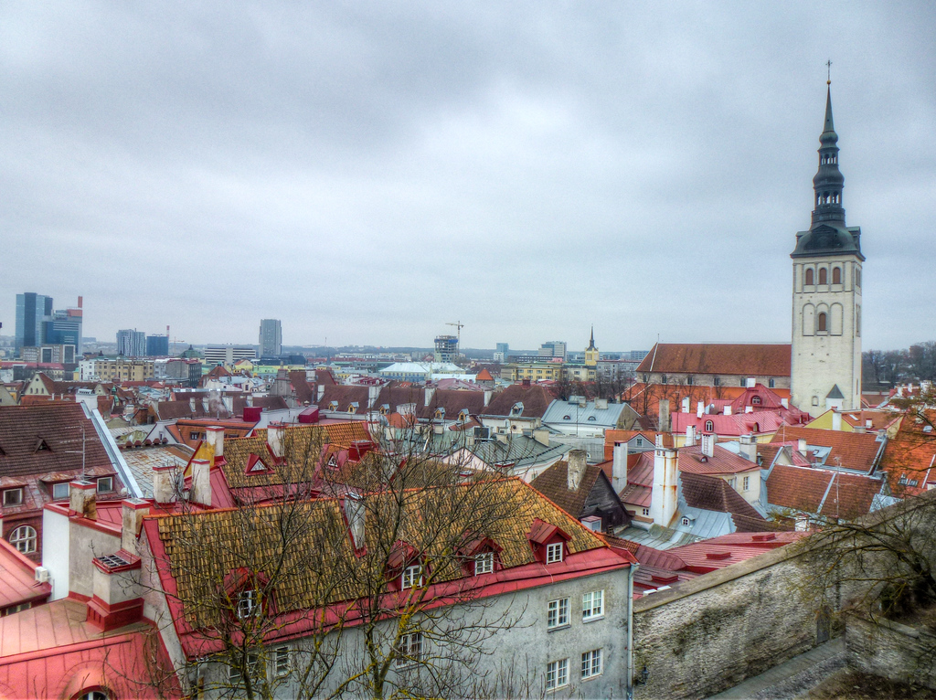 A Winter View Of Tallinn, Estonia