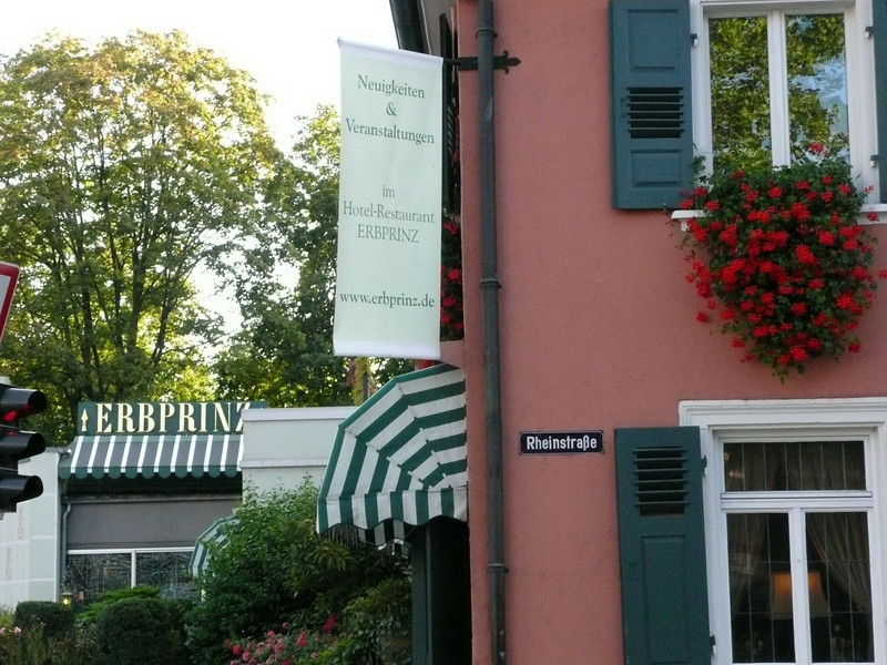 "Stayed at the Hotel ERBPRINZ:   <a href=""http://www.erbprinz.de"">http://www.erbprinz.de</a>    it was very nice and not expensive, I'd go back again."