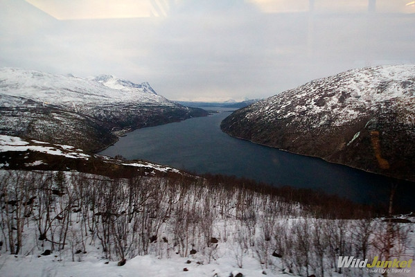View of fjord from Arctic Circle Express
