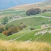 hillsides with rock walls...