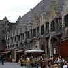old buildings, sidewalk cafes...
