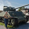 including this WWII Sherman tank that Rick greatly admired,