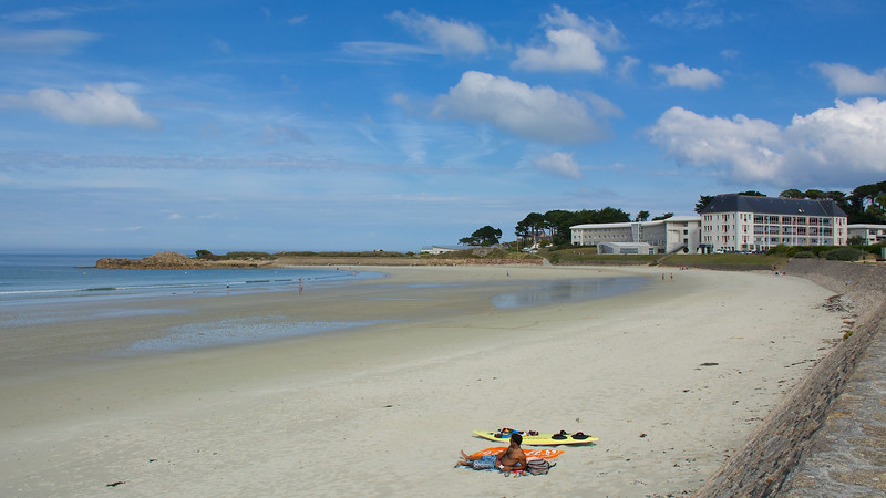 Along Brittany's northern coast we often experienced crowded beaches, but here was a lovely secluded spot...