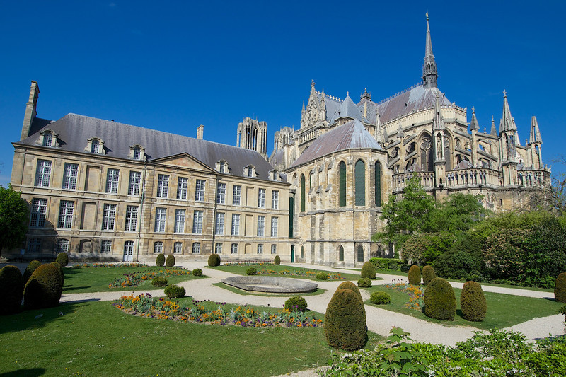 The cathedral in Reims is one of the most famous in France.