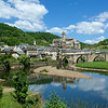 Further along the river is lovely Estaing.