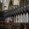 The woodwork in the choir is exquisitely done...