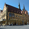 The 16th century Rathaus is covered with beautiful frescoes...