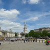 Next up was Trafalgar square, London's town plaza if you will,