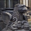 This evil looking critter guards the entry to the cathedral.
