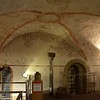 Down in the crypt, there were original decorations from the 1500s,