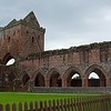 and stopped at the ruins of the Sweetheart Abbey there,