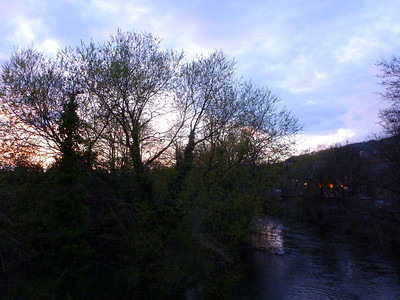 Setting sun in Matlock