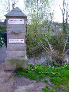 Flood levels on the Derwent in Matlock