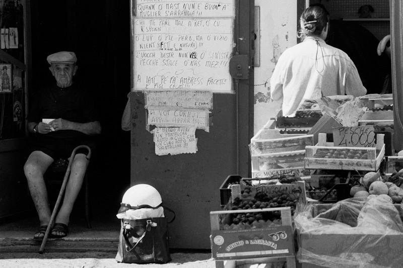 Umbrella Salesman - Amalfi, Italy