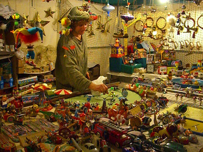 Malaga Christmas Market Toy Stand - Spain