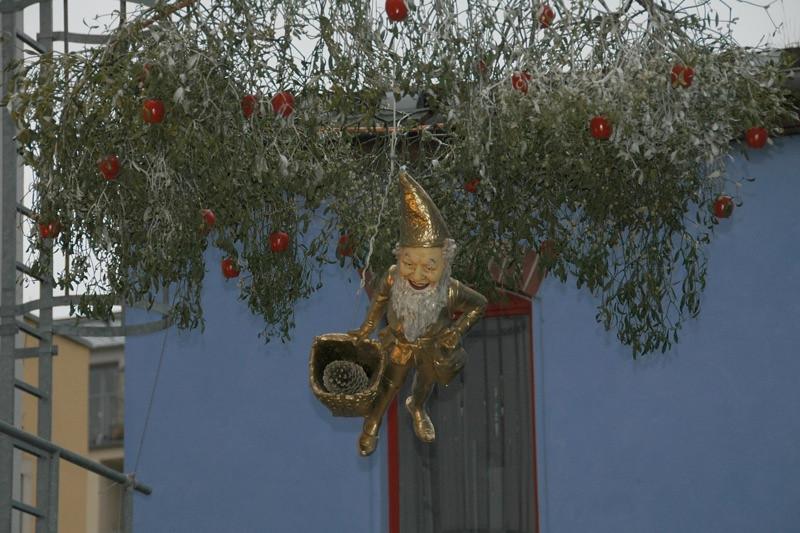 A Christmas Elf in KunsthofPassage - Dresden, Germany