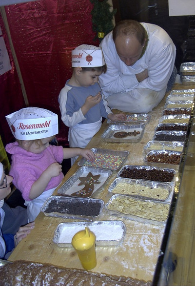 Kids Making Christmas Cookies - Nurnberg, Germany