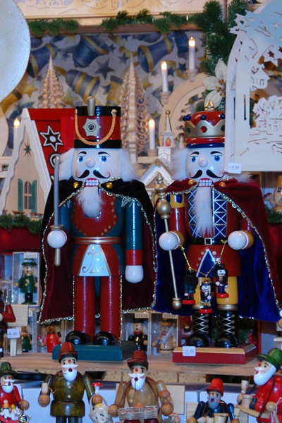 Nutcrackers Standing Guard - Striezelmarkt, Dresden, Germany