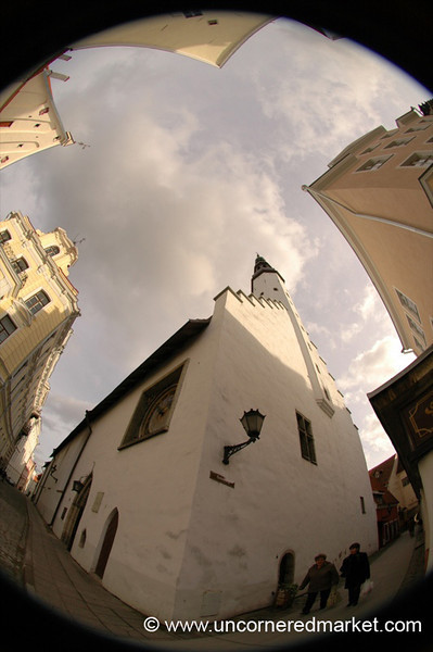 Tallinn's Old Town in Fisheye - Estonia
