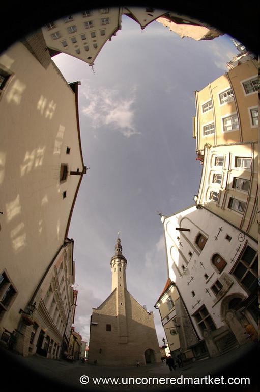 Tallinn's Old Town in Fisheye - Tallinn, Estonia