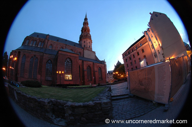 St. Peter's Church, Fisheye - Riga, Latvia