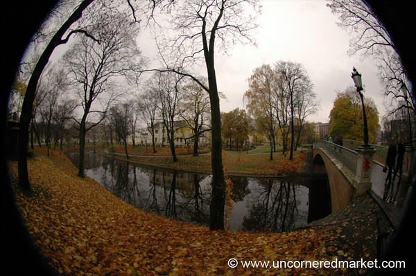 Autumn in Riga, Fisheye -  Latvia