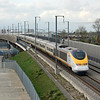 A London bound Eurostar on High Speed 1 at Rainham, Essex.