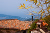 View of Mediterranean Sea from  Eze, France