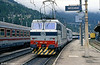 A pair of FS 633s at Modane, running back to the shed having uncoupled from a train from Turin (left), August 1988.