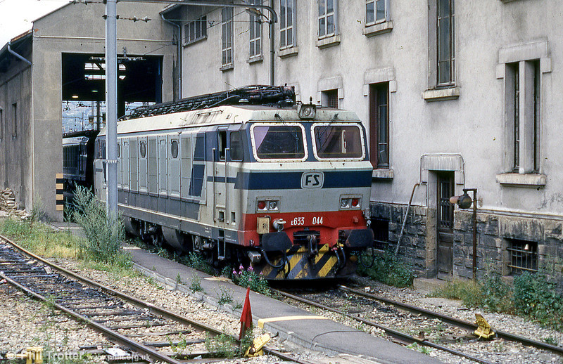 FS 633 044 at Modane depot. August 1988.