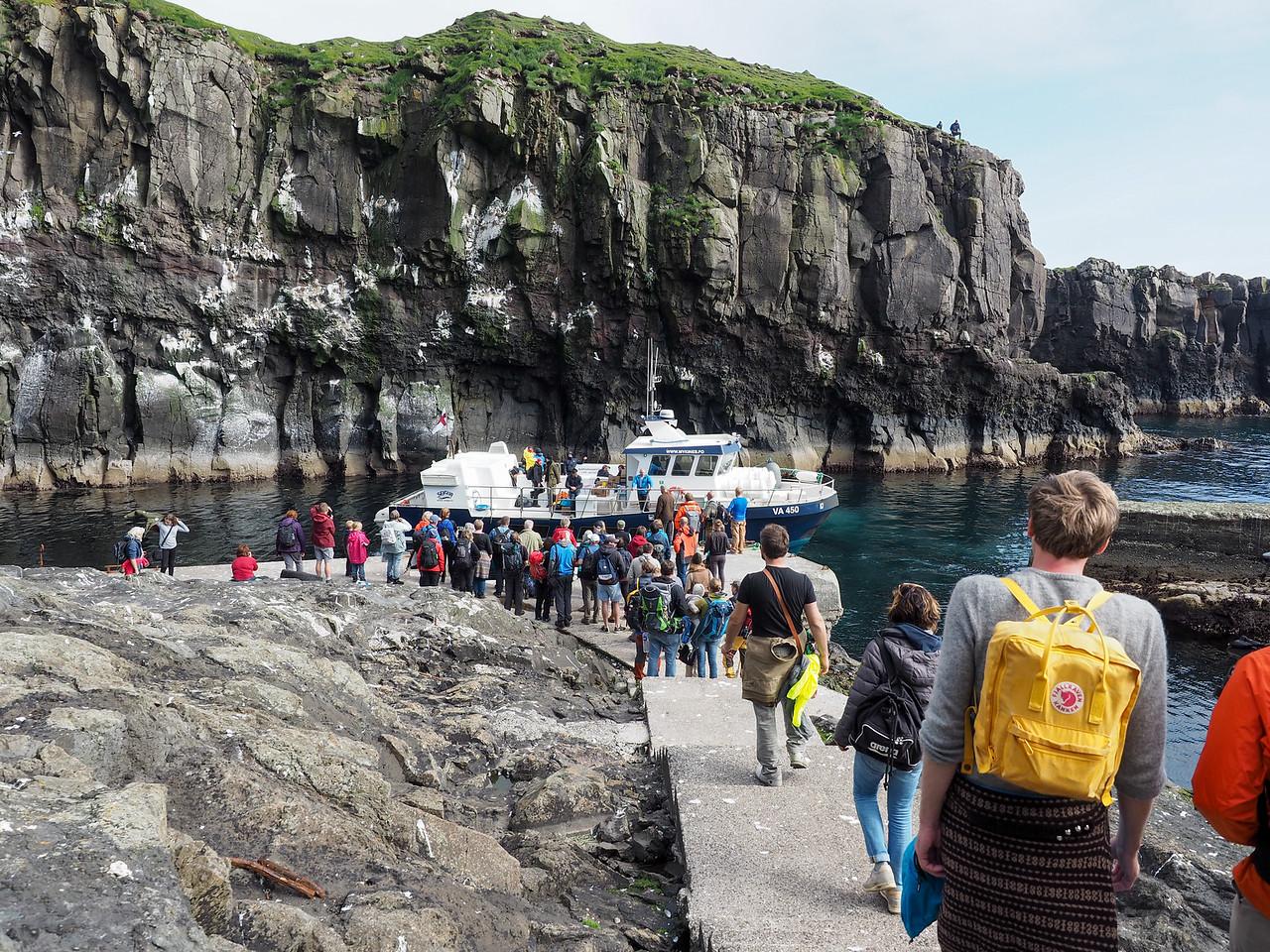 Mykines ferry in the Faroe Islands