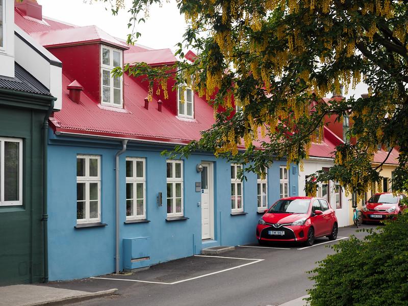 Street in Tórshavn in the Faroe Islands