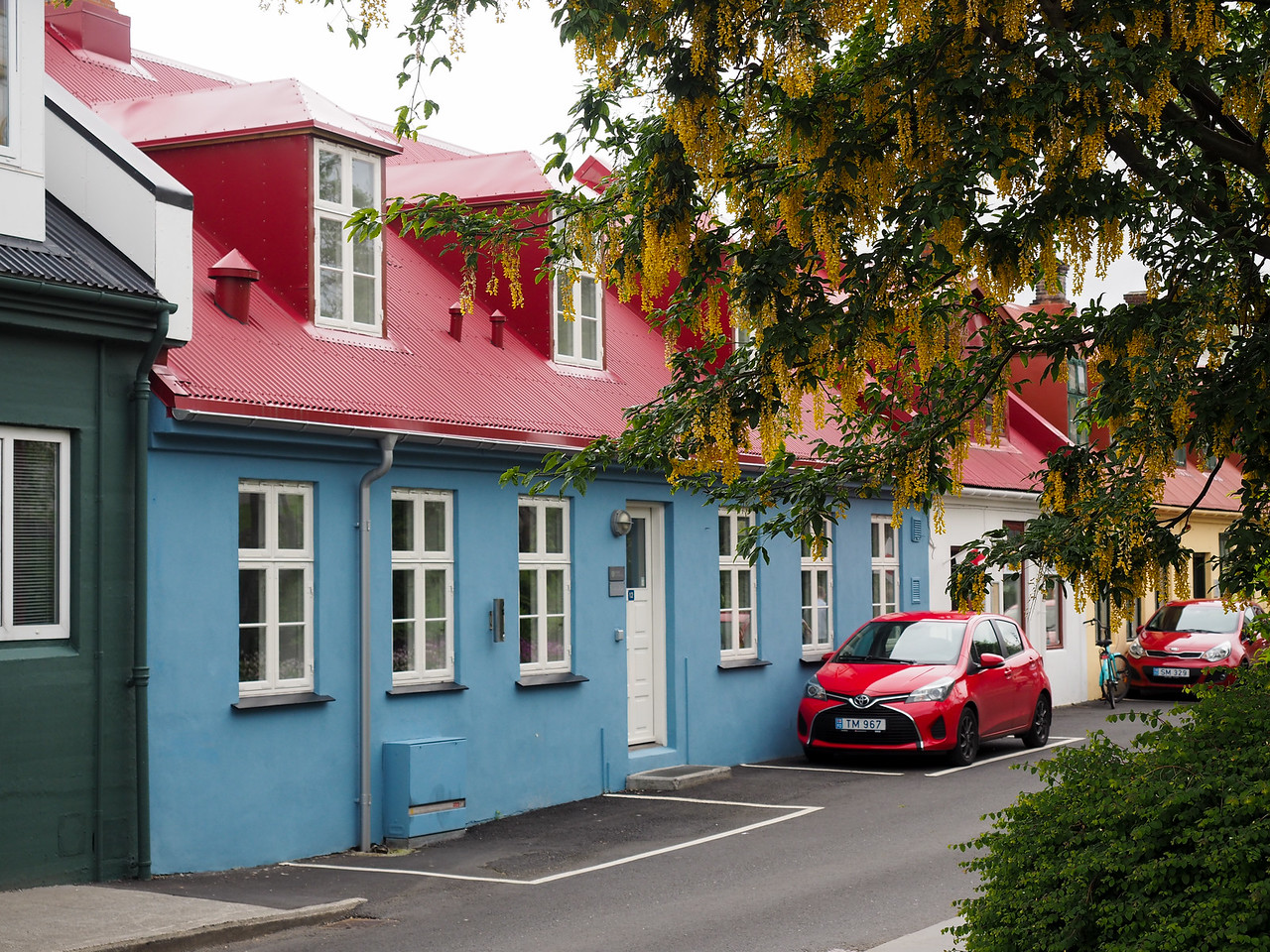 Street in Tórshavn in the Faroe Islands
