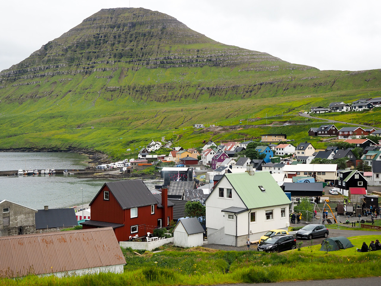 Village of Gøta in the Faroe Islands
