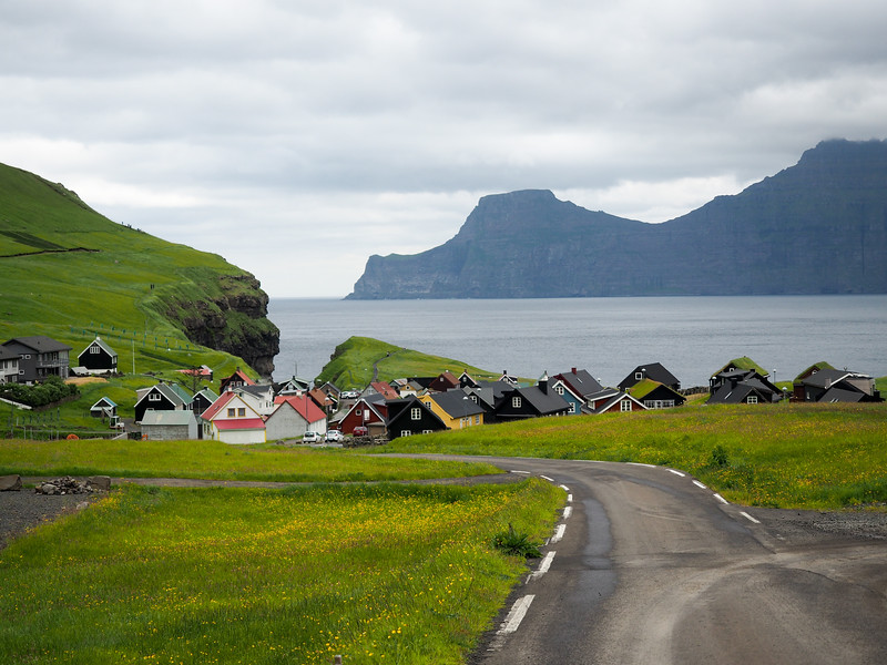 The village of Gjógv in the Faroe Islands