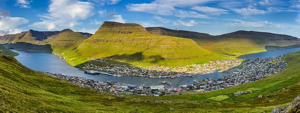 City of Klaksvik on Faroe Islands, Denmark