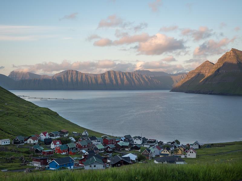 Village of Funningur in the Faroe Islands