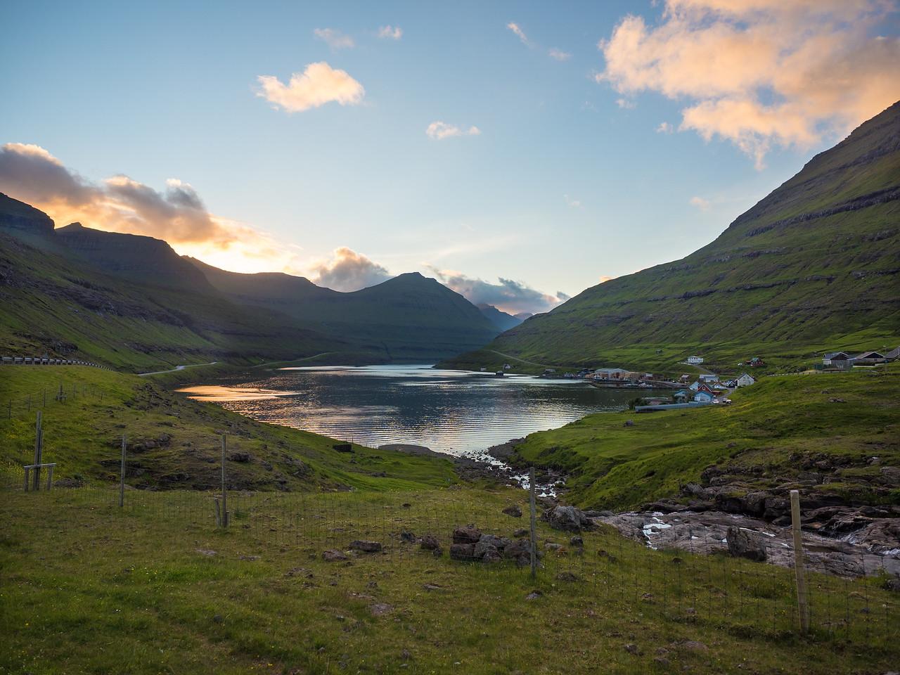 Sunset in the Faroe Islands