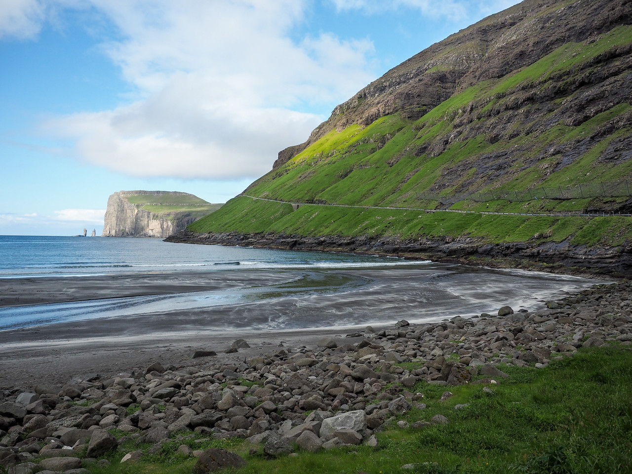 Beach in Tjørnuvík